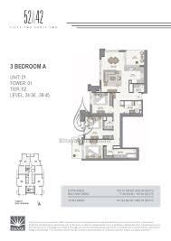 3 Bedroom Apartments Floor Plans 52 42 1 Bedroom Apartment Floor Plan 1