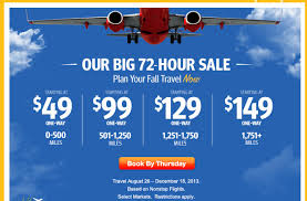southwest sale southwest and airtran 72 hours sale mightytravels