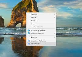 mettre icone sur le bureau windows 10 comment mettre les icônes sur le bureau