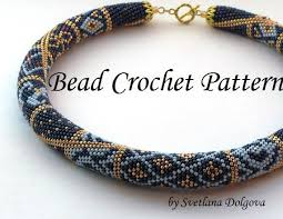 crochet necklace bead images Pattern for bead crochet necklace etsy jpg