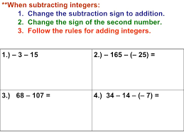 25 best ideas about homework help subtracting integers