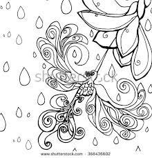 abstract art humming bird coloring page stock vector 368436602