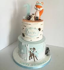 winter woodland animals cake on cake central babyshower