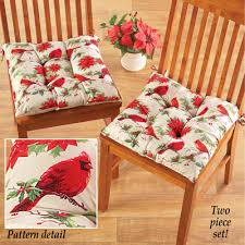cardinal christmas kitchen chair cushions from collections etc