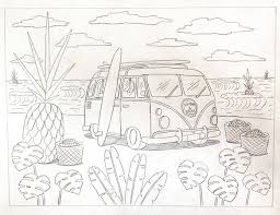bts mural giant pineapples and vw vans dos mundos creative