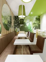 fresh restaurant design displaying bold natural colours and fun