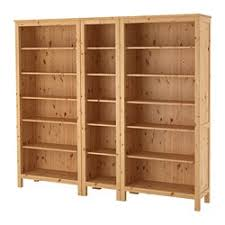 Wood Bookcase With Doors Hemnes Living Room Series Ikea
