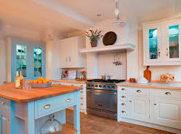 lewis kitchen furniture white kitchen with pale blue cabinets and wood countertops white