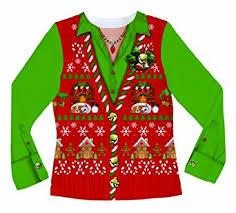 amazon com faux real women u0027s ugly christmas sweater vest long