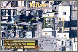 tulsa airport map downtown tulsa tunnels wanderwisdom