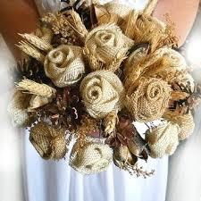 country wedding bouquets burlap bridal bouquet bazaraurorita