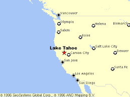 california map in usa lake tahoe area maps detailed lake tahoe area map by region
