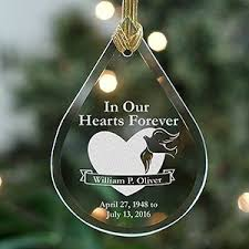 personalized remembrance ornaments memorial christmas ornaments giftsforyounow