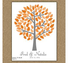 wedding tree guest book personalized wedding tree guest book marissa say anything design