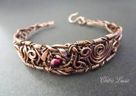 wire bracelet images Wire wrapped woven copper bracelet by chitra lucas jpg