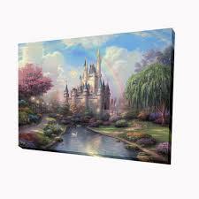 unframed thomas kinkade dream castle hd canvas print home