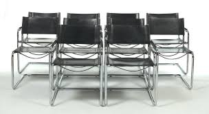 Leather And Chrome Chairs Centra Studi