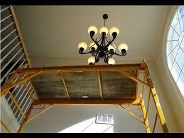 Chandeliers For Foyer Installing A 9 Light Chandelier In The Foyer Youtube