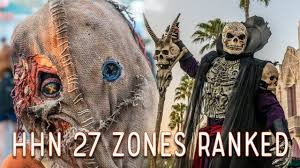ranking the halloween horror nights 2017 zones youtube