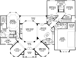 one level floor plans one story villa with master suite 40852db