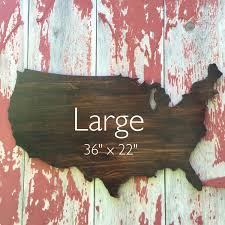 usa wooden wall decor wooden map wall 36 stained
