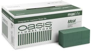 Floral Foam Oasis Ideal Floral Foam Maxlife Brick Box Contains 20 Bricks