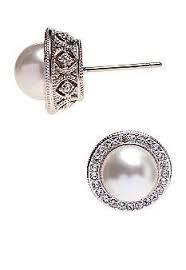pearl earrings stud xiaonianshi new brand white pearl stud earrings for women wear