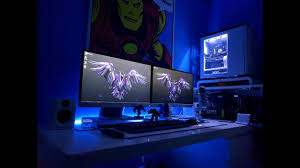 Computer Set Ups by 32 Desktop Gaming Led Strip Light Setups U0026 Ideas For Bedroom Home
