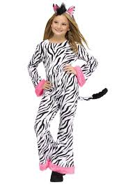 girls halloween pajamas girls zebra diva costume