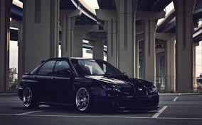 tuned subaru wallpaper car parking tuning subaru impreza wrx sti hd picture