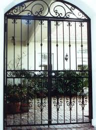 metal garden gates with locks home outdoor decoration