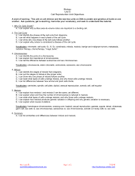 Mitosis Worksheet Phases Of The Cell Cycle Biology Unit 4 Cell Reproduction Unit Objectives