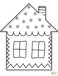 gingerbread coloring page home coloring pages free printable house coloring pages for kids