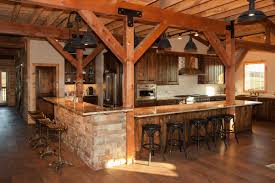 rustic kitchen post u0026 beam style barn home sand creek post
