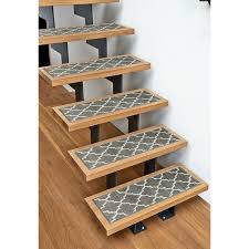 trellisville 28 inch by 9 inch geometric stair treads set of 13