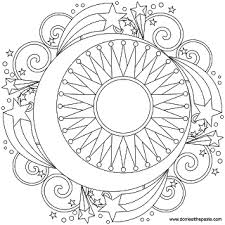 coloring pages for grown ups sun moon and stars mandala coloring pages for grown ups art