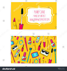 colorful make artist business card template stock vector 248878402