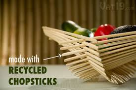Chopstick Folding Baskets Collapsible containers made from recycled