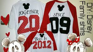diy minne mickey family matching shirts