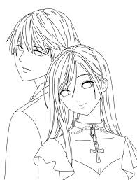 rosario vampire coloring pages 94 coloring