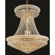 hanging a chandelier elegant lighting gold royal cut 36 inch crystal clear large hanging