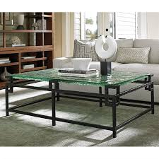 tommy bahama coffee table tommy bahama island fusion hermes reef glass coffee table in black