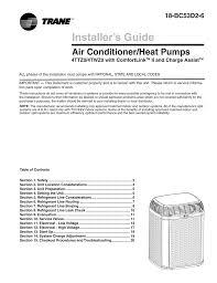 trane installer s guide air conditioner heat pump 4ttz0 4twz0
