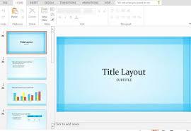sheer blue border widescreen powerpoint template