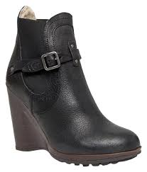 s thomsen ugg boots ugg australia black collection bilancia high wedge boots booties