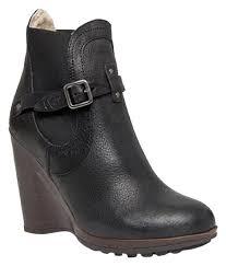 ugg womens grandle boots black ugg australia black collection bilancia high wedge boots booties