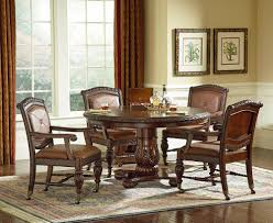 Dining Room Table Round by Modus Bossa 6 Piece Round Dining Room Set In Dark Homelegance
