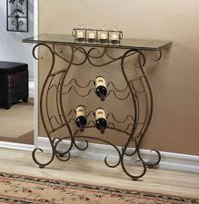 home locomotion vineyard wine rack table dining area iron