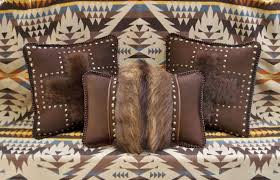 faux leather throw pillows buffalo leather pillows with full hide buffalo fur youtube