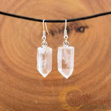 clear earrings clear quartz earrings apothecary herb shoppe